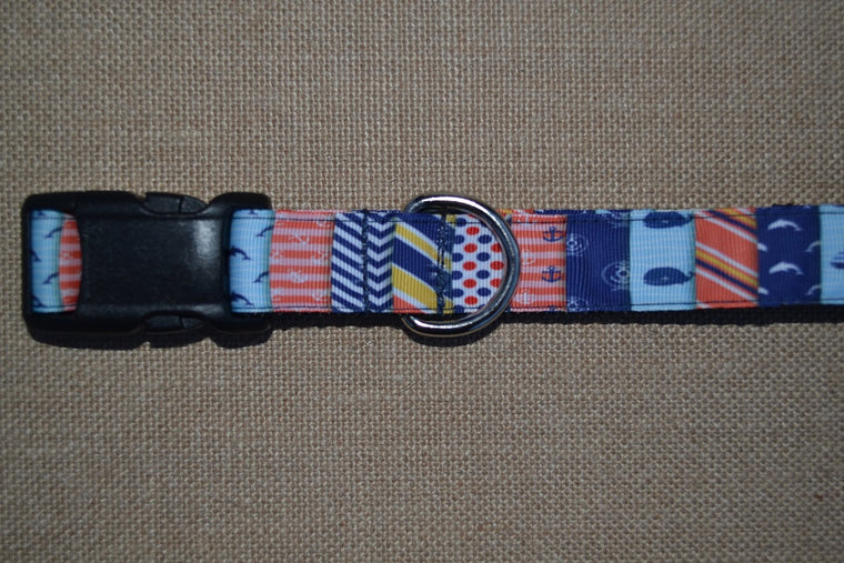 dog collar nautical sailing