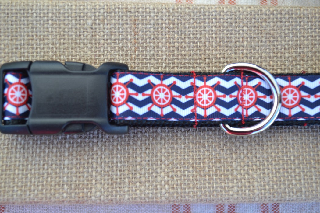 nautical ship sailing dog collar