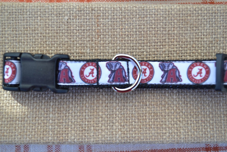 dog collar alabama crimson tide small