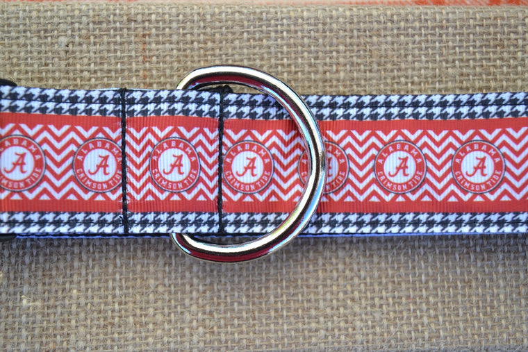 dog collar alabama crimson tide xl