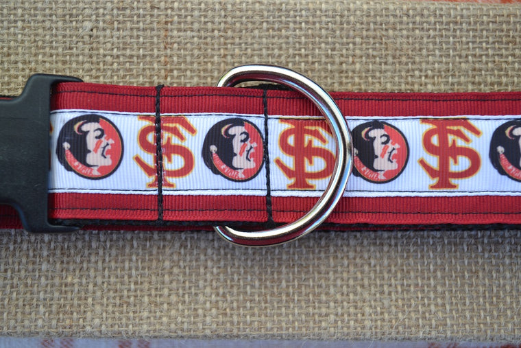 dog collar FSU seminoles xl garnet