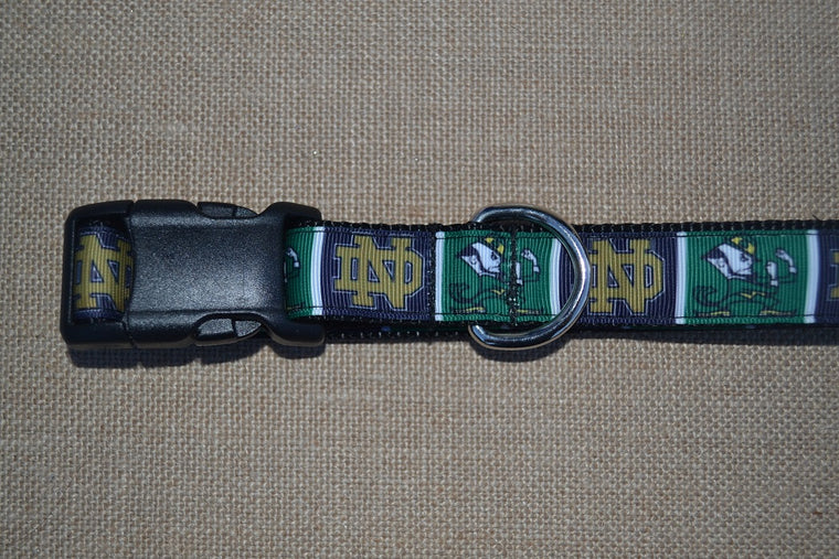 dog collar notre dame fightin irish blocks