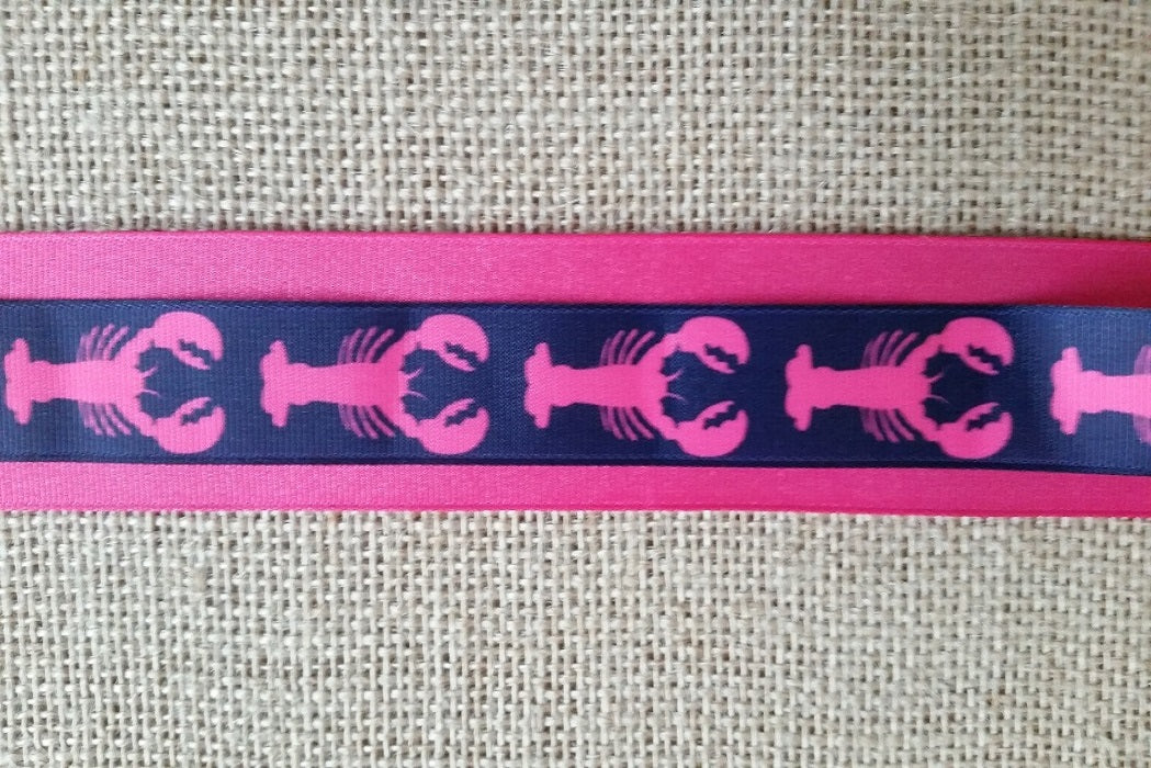 dog collar pink lobster xl preppy