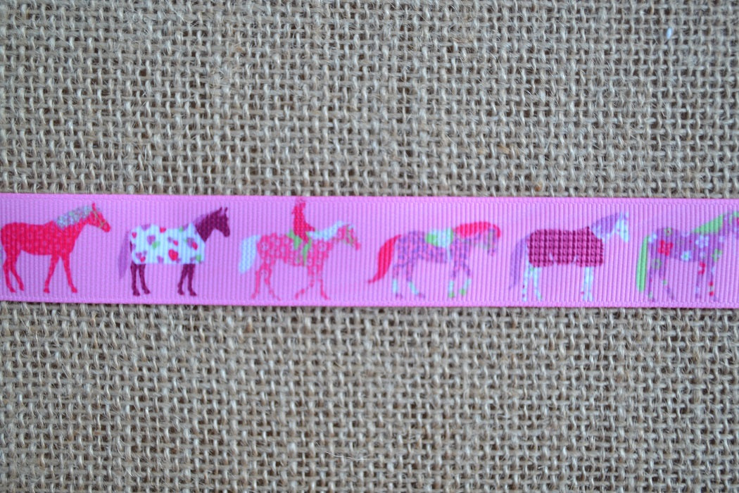 dog collar pink ponies horse