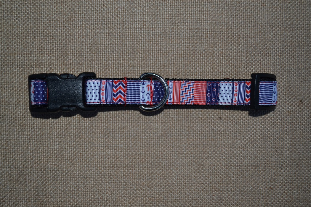 dog collar nautical xl