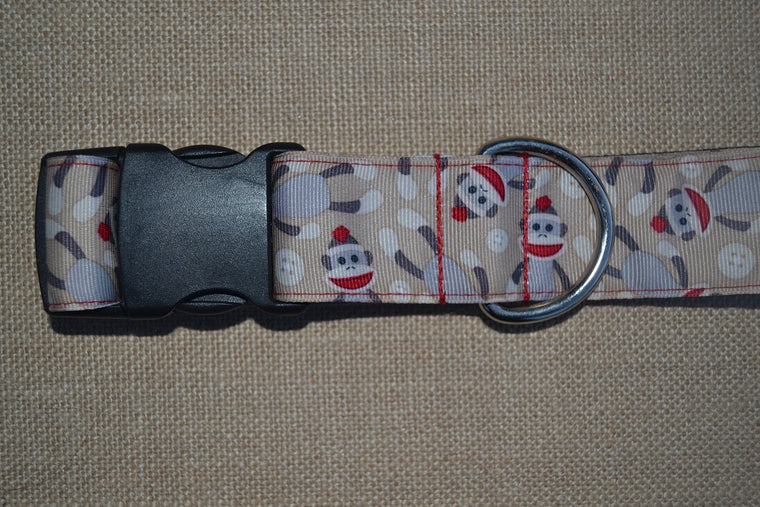 dog collar sock monkey xl