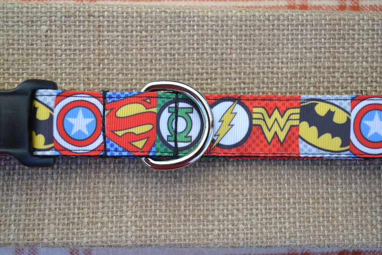 dc marvel supervero comics dog collars