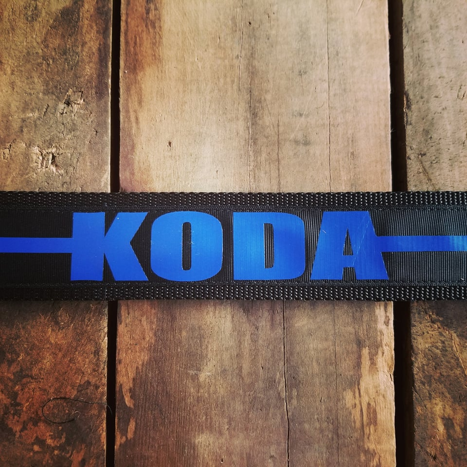 "2"" wide Personalized THIN BLUE LINE DOG Collar"