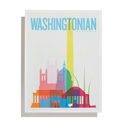 Washingtonian Poster- Washington Skyline