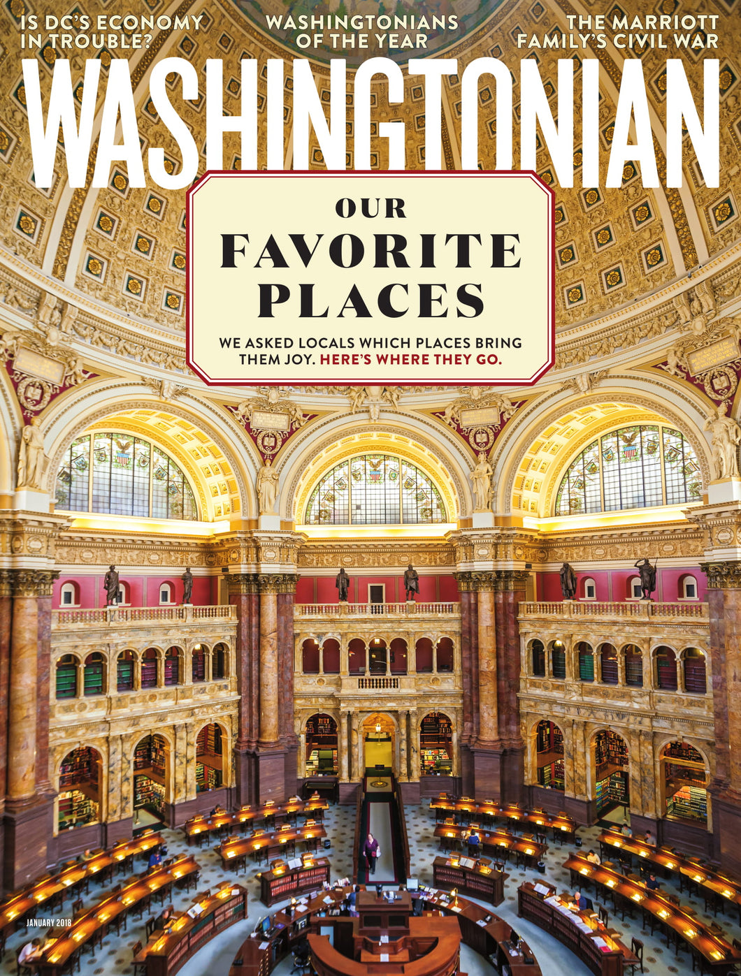 Washingtonian: January 2018 - Favorite Places