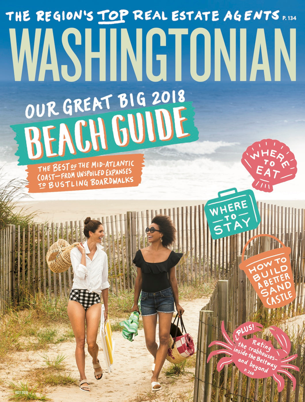 Washingtonian: July 2018- Beach Guide
