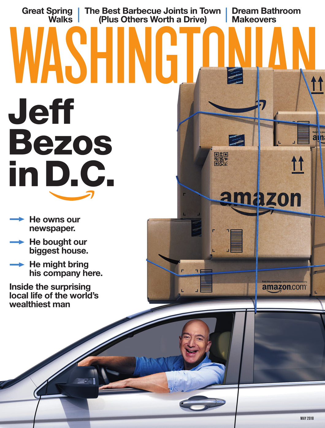 Washingtonian: May 2018 - Jeff Bezos in D.C.
