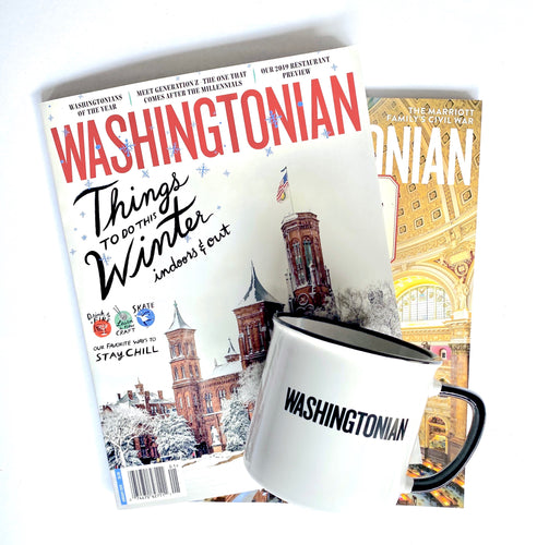 Gift Bundle: Washingtonian magazine subscription, tote bag, and mug