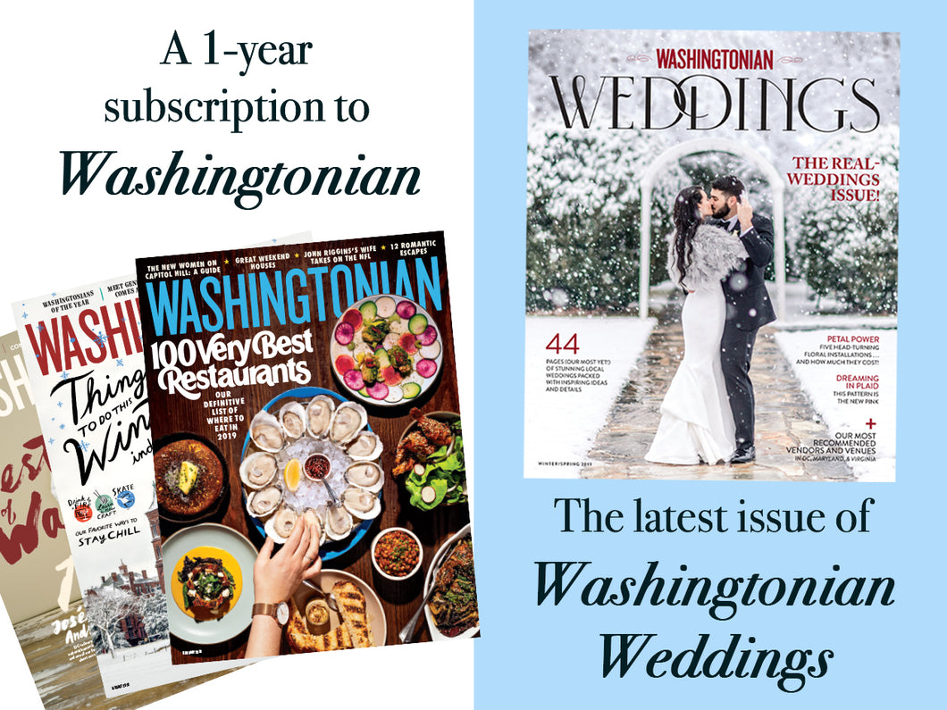 Washingtonian Weddings + 1 Year Subscription