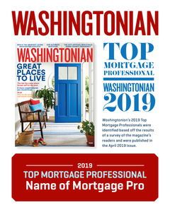Washingtonian Top Mortgage Professional Plaque