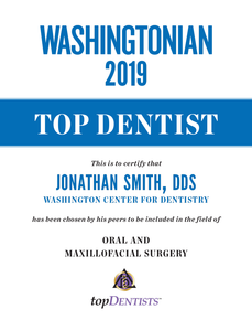 Washingtonian Top Dentist Plaque