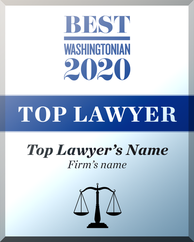 Washingtonian Top Lawyer Crystal Glass Plaque