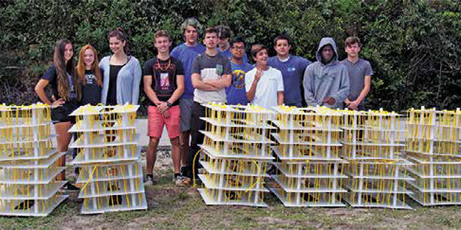 MIA Students Build Mini Reefs – Build it and the fish will come