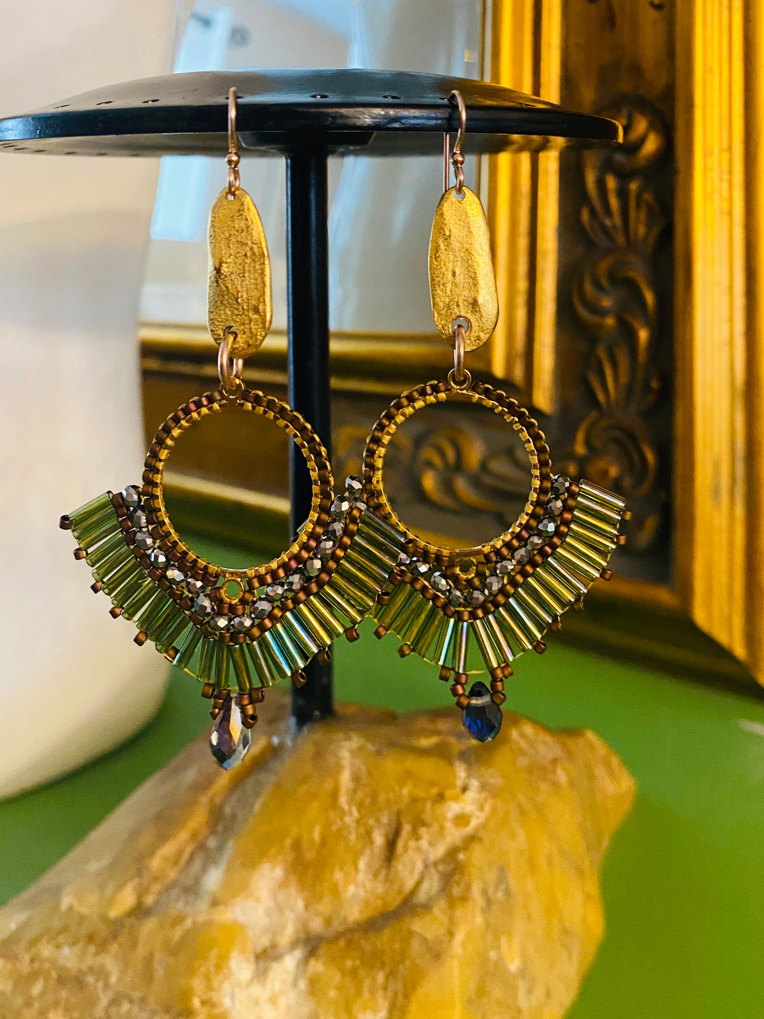 Warrior goddess earrings