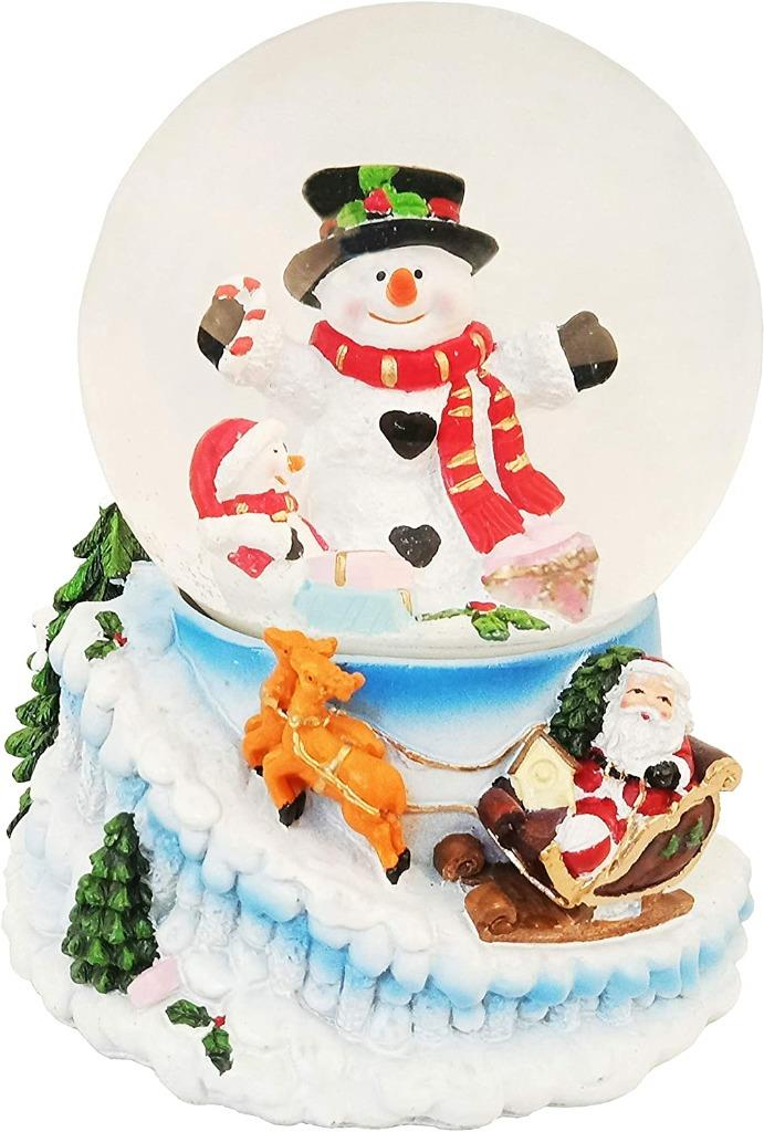 Lightahead Musical Christmas Snowman Water Globe with music 100 MM in Poly resin