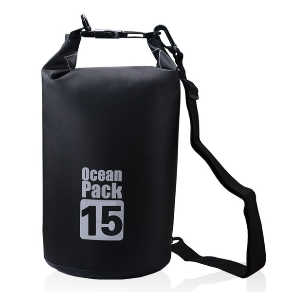 Lightahead Waterproof Dry Bags 15L With Free Waterproof Cellphone Case for Kayaking/ Rafting-Black
