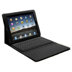 Lightahead 360 Degrees Rotating Sliding Cover Case with Sliding & Adjustable Bluetooth Wireless Keyboard for Ipad 2 & 3 (BLACK)