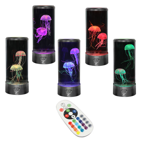 Lightahead LED Fantasy Jellyfish Aquarium Lamp Round, 7 color changing Light effects with Remote