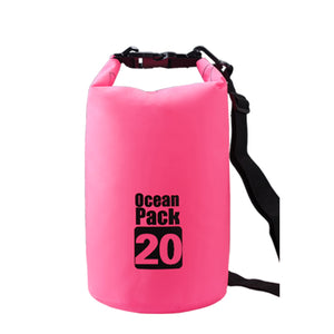 Lightahead Waterproof Dry Bags 20L With Free Waterproof Cellphone Case (Pink)