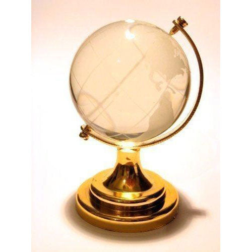 Glass Miniature World Globe