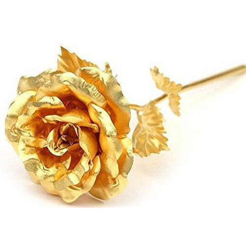 Gold Rose Foil Flowers