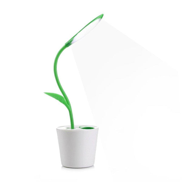 Lightahead®Stylish Eye Friendly USB LED Desk Lamp 3 Level of Brightness Sapling Pot with Pen Holder