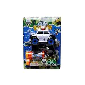 Lightahead Police Swat Car Light Up Bubble Gun Blaster Shooter with Music, with 2 Solution Bottles