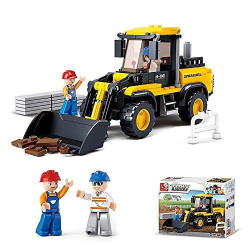 Lightahead Construction & Forklift truck with Mini Figures Toy Building Blocks Set  For Kids(212 PCS)