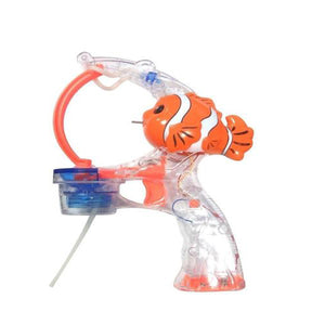 Lightahead 2 LED Handy Fish Bubble Gun with Music and Lights,includes 2 Bottles of Bubble Solution