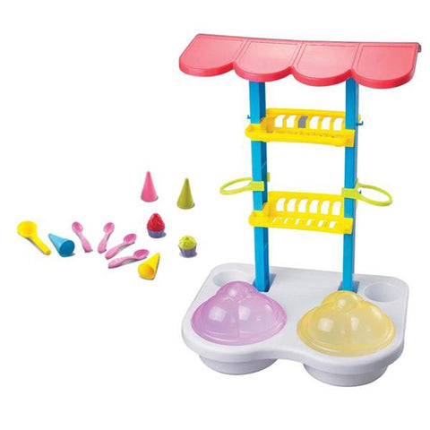 Lightahead 16pcs Ice Cream Shop on the Beach Sand Set Toys, Icecream shop stand, Cones, spoons