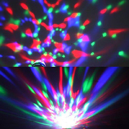 400 pieces Lightahead LA005 Rotating LED Strobe Bulb Multi changing Color Crystal Stage Light