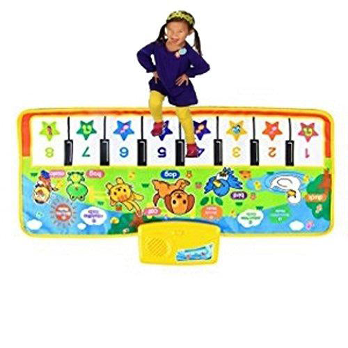 Lightahead Walk or step Folding Piano Roll up Musical Mat with Touch Play Keyboard for kids