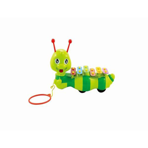 Lightahead Musical Xylophone Caterpillar a Pulling Toy for Children & Toddlers