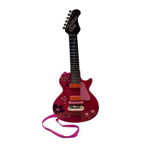 Lightahead Musical Electronic Toy Guitar with Sound and Lights Pink