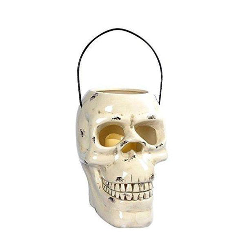 Lightahead Halloween Decoration Light Skull Lantern, Outdoor Garden Light