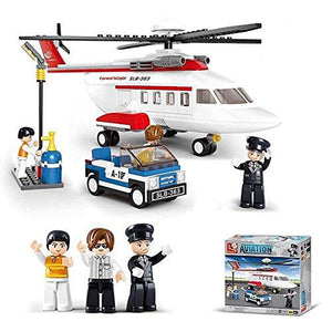Lightahead Aviation Helicopter and mini Figures Toy Building Blocks Set Educational DIY Kit For Kids (259 PCS)