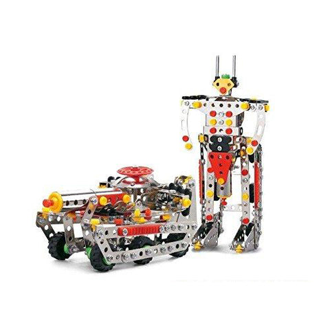 Lightahead Assembly Metal Deformation Robot Tank Model Kits Toy to Assemble. Puzzles Set for Kids, 292 pcs metal blocks