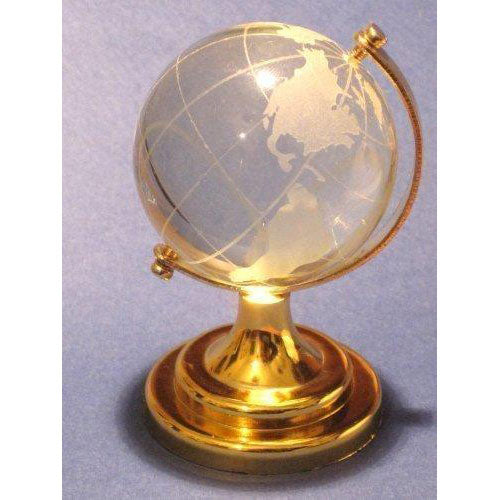 2.5 New Crystal Glass Miniature World Globe Ornament / Gift by HomeOffice