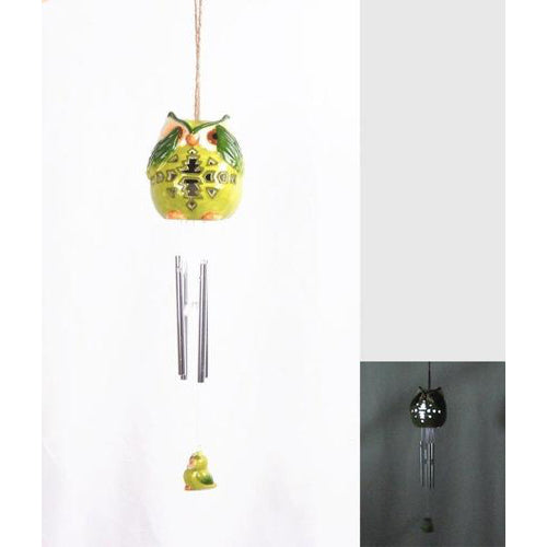 Lightahead® Solar Owl Windbell Light Solar Powered Owl Color Changing LED Wind Chime for Park, Patio, Deck, Yard, Garden, Home, Pathway, Outside Landscape decoration and celebration