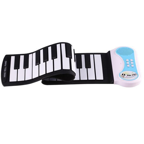 Lightahead Portable 37-Keys Roll up Silicone Electronic Digital Music Keyboard Piano Builtin Speaker