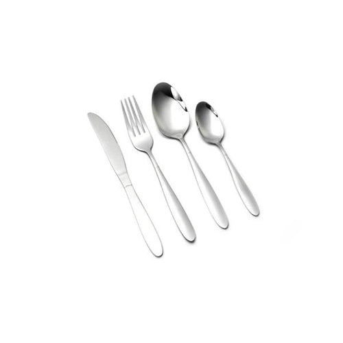 Lightahead 24pcs Stainless Steel Flatware Tableware Cutlery Set with Tray