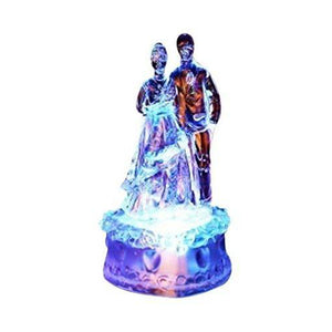 Lightahead Lover Figure Statue RGB Color Changing Night Light Mini lamp Figurines - A