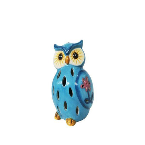 Lightahead® Solar Owl Light Ceramic Owl Powered by Solar LED Light for Park, Patio, Deck, Yard, Garden, Home, Pathway, Outside Landscape for decoration and celebration