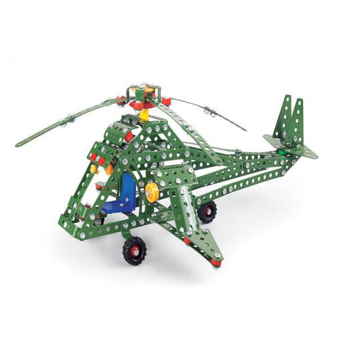 Lightahead Assembly Metal Military Plane Model Kits Toy Combat Helicopter to Assemble.Building Puzzles Set for Kids, 384 pcs metal blocks