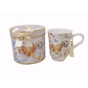 Lightahead Superior Bone China Royal Coffee Tea Mug 11.2oz cup in gift box in cute puppy dog design